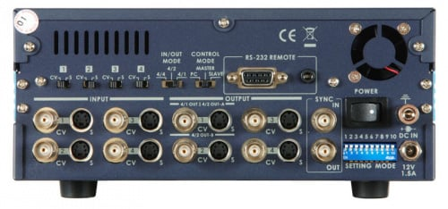 Time Base Corrector/Matrix Switcher, 4-In/Out