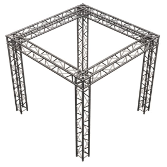 Global truss sq 10x10 square truss tradeshow booth package for Truss package cost