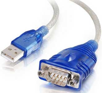 1.5 ft. USB to DB9 RS-232 Serial Adapter Cable