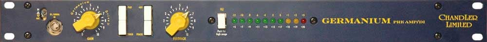 Chandler Limited Germanium Preamp/DI Single-Channel Microphone Preamp & DI without Power Supply GERMANIUM-PREAMP/DI
