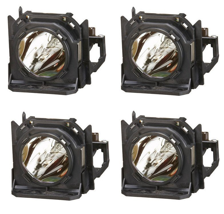 Replacement Lamp for Panasonic PT-D10000/DW10000, Four Pack