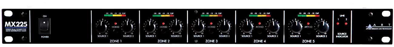 ART MX225 5 Zone Distribution Mixer MX225