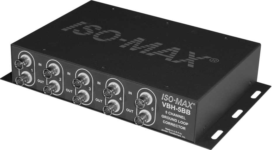 5-Channel Component Video Ground Loop Corrector (for 75 Ohm Systems)