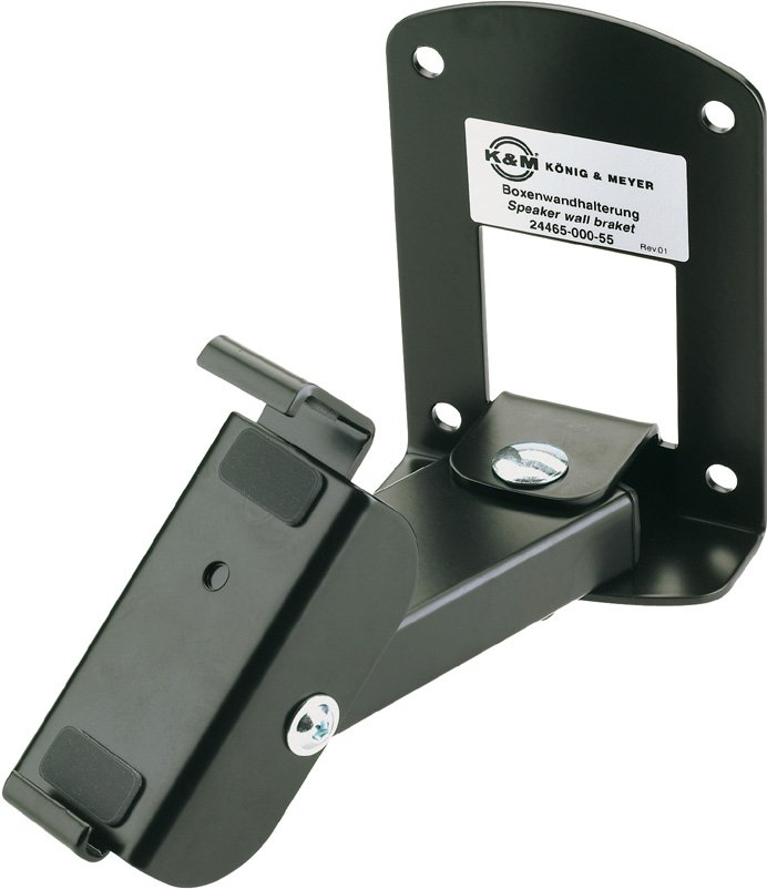 K&M Stands 24465-BLACK  Speaker Wall Mount for JBL Control 1 (with Tilting Swivel, Black) 24465-BLACK