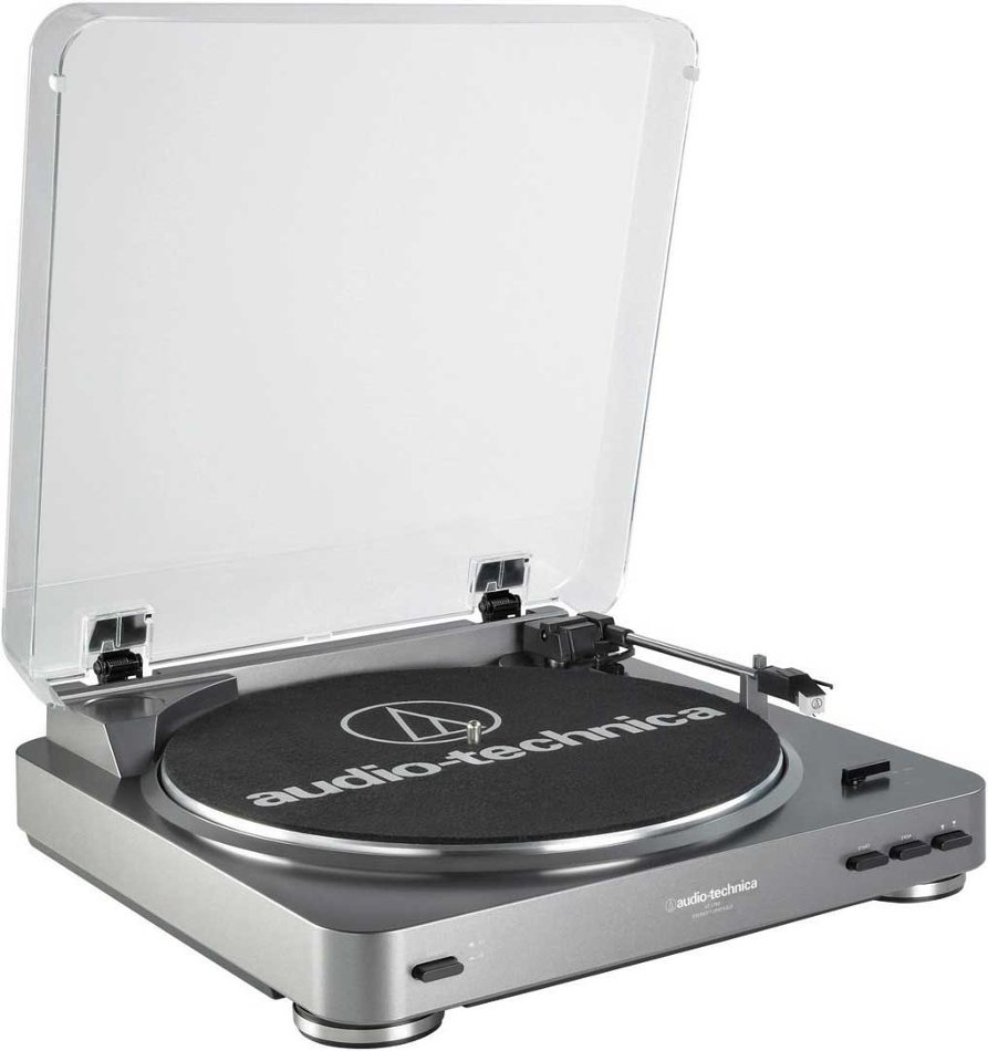 Audio-Technica AT-LP60 Fully Automatic Belt Drive Turntable with Switchable Preamp and Cartridge ATLP60