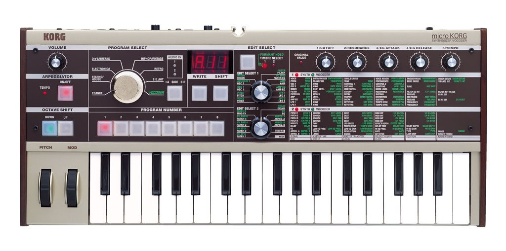 Korg microKORG 37-Key Compact Analog Modeling Synthesizer With Vocoder