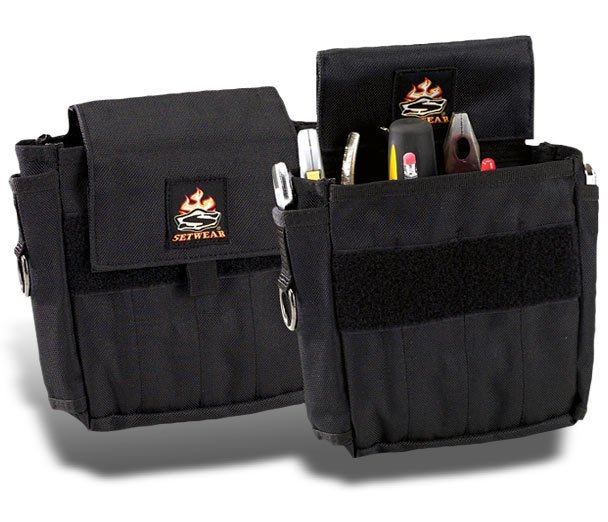 """Small, 7"""" x 7"""" Black AC Pouch"""