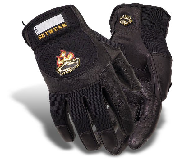 Large Black Pro Leather Gloves