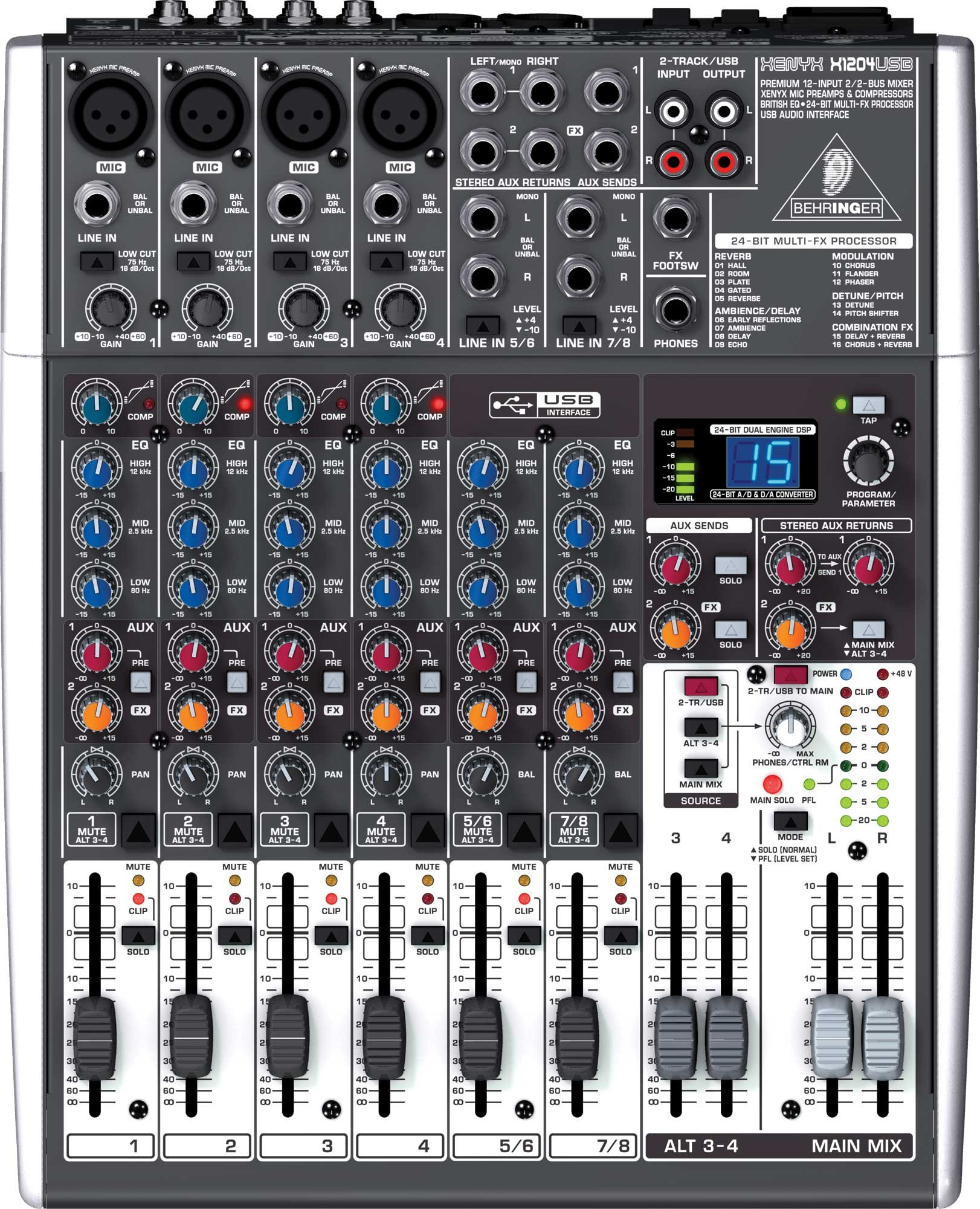 12 Input Mixer with USB and energyXT2.5 Software