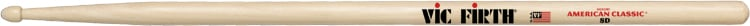 1 Pair of American Classic 8D Drumsticks with Wood Tear Drop Tip