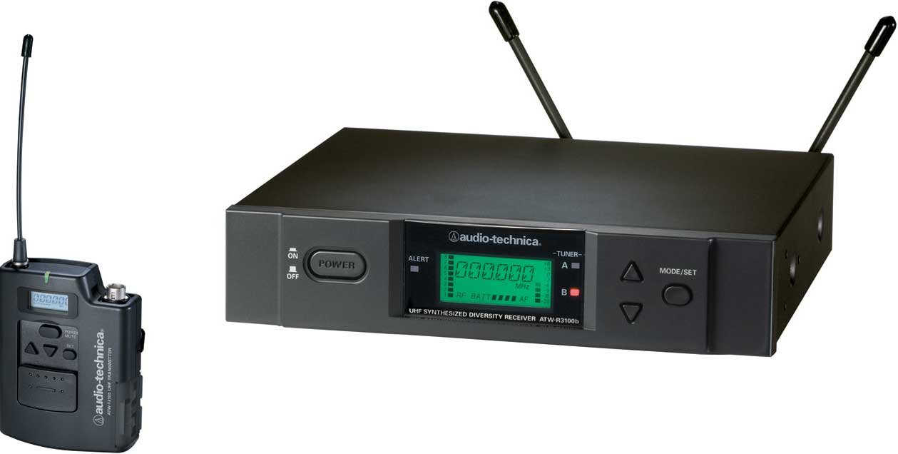 Audio-Technica ATW-3110b UHF Wireless Microphone System, Frequency-Agile ATW-3110BC