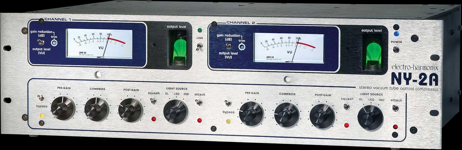 Rackmount Stereo Tube Optical Compressor