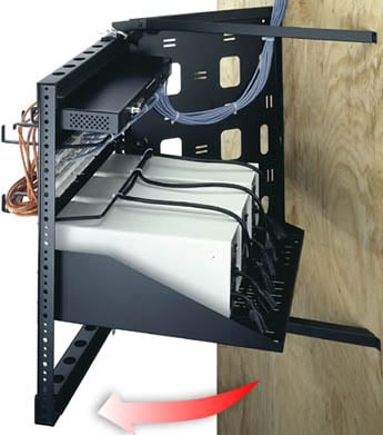 """Middle Atlantic Products SFR-12-18 12 RU, 18"""" D Swing Frame Wall-Mounted Rack SFR-12-18"""