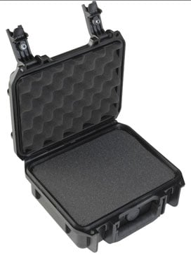 "Molded Case, 9"" x 7"" x 4"" w/mini-latch, cubed foam"