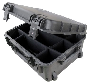 Molded Case, 19 x 14 x 8, Wheels, Dividers