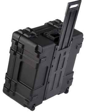 Roto Mil-Std Waterproof Case, 22 x 22 x 12, Cubed Foam, Wheels