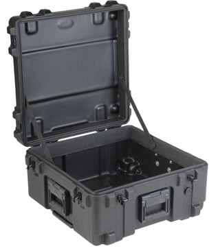 Roto Mil-Std Waterproof Case, 22 x 22 x 12, Empty, Wheels