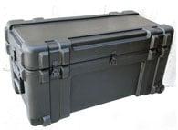 Roto Mil-Std Waterproof Case, 32 x 14 x 15, Foam, Wheels