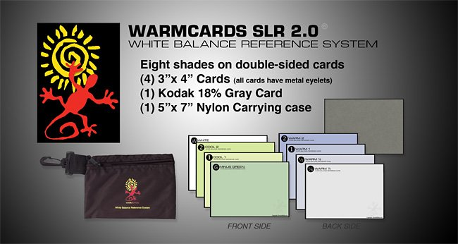 WarmCards SLR 2.0 White Balance Reference System
