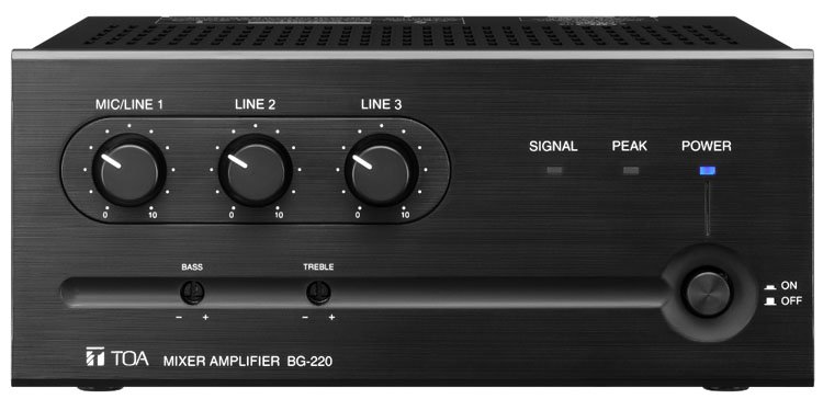 TOA BG220CU BG-220 Mixer/Amp, 20w, 3 Input BG220CU