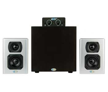 Stereo Monitoring System, 2 Satellite Speakers, 1 Subwoover and Desktop Controller