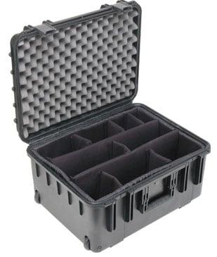 """Mil-Std Waterproof Case 10"""" Deep (w/ dividers, wheels and pull handle)"""