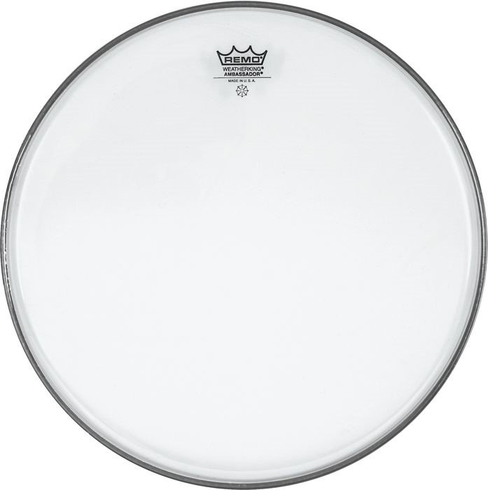 "13"" Ambassador Clear Drum Head"