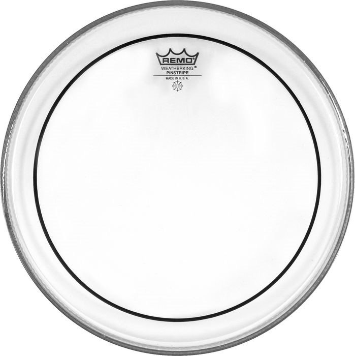 "14"" Pinstripe Clear Drum Head"