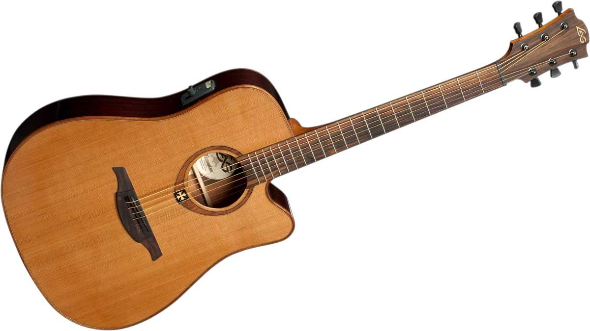 Acoustic/Electric Guitar, Dreadnought Cutaway, Solid Red Cedar Top, Dark Mahogany Back & Sides, Gloss Finish