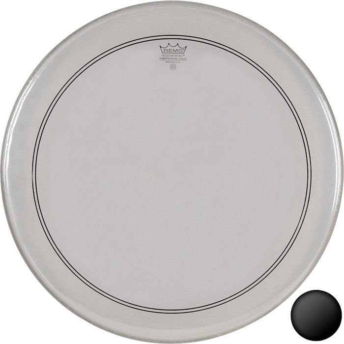 """22"""" PowerStroke3 Clear Bass Drum Head with Falam Patch"""