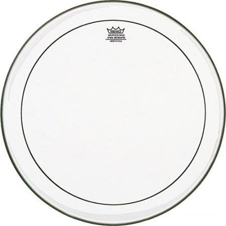 "22"" Pinstripe Clear Bass Drum Head"