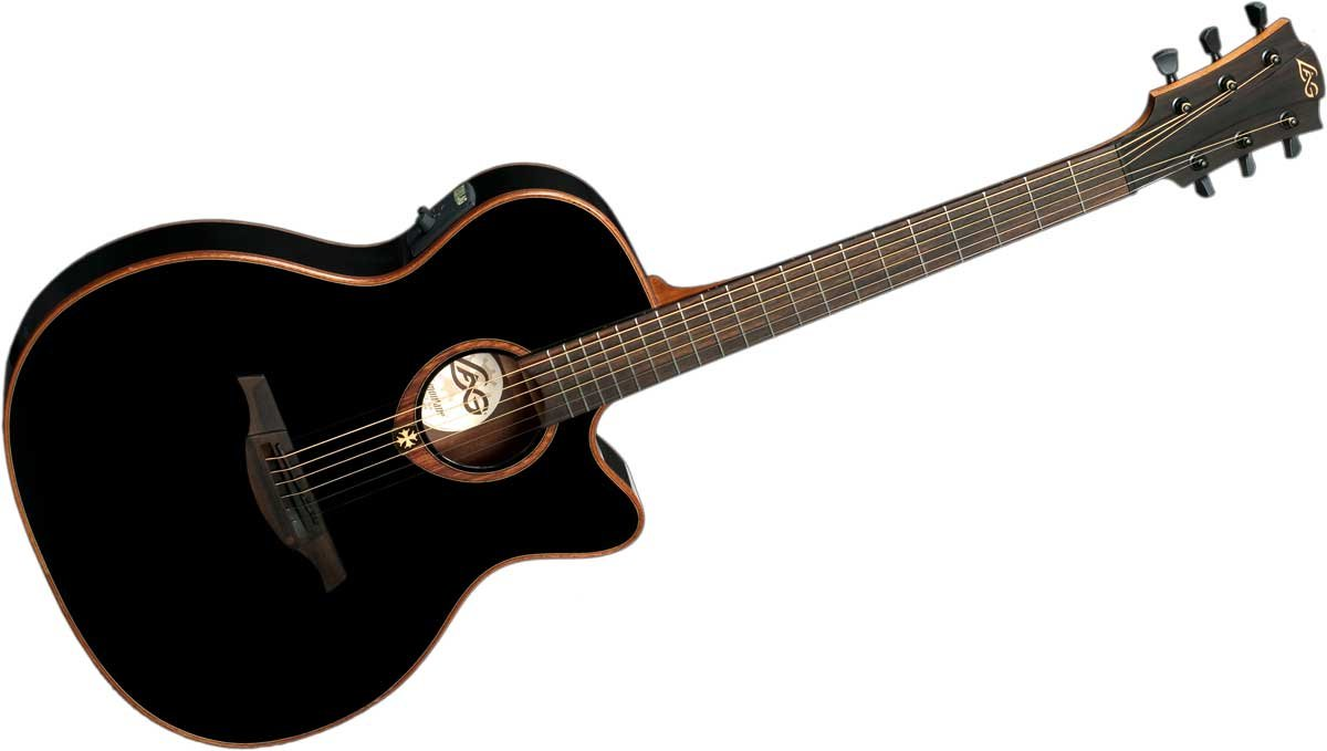 Tramontane 100 Auditorium Slim Cutaway Acoustic/Electric Guitar with StudioLag Plus Electronics in Black