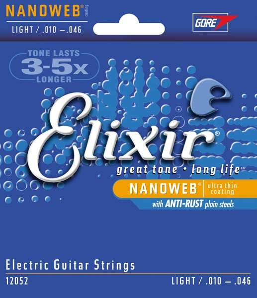 Light Electric Guitar Strings with NANOWEB Coating