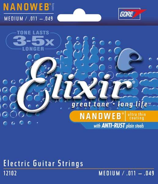 Medium Electric Guitar Strings with NANOWEB Coating