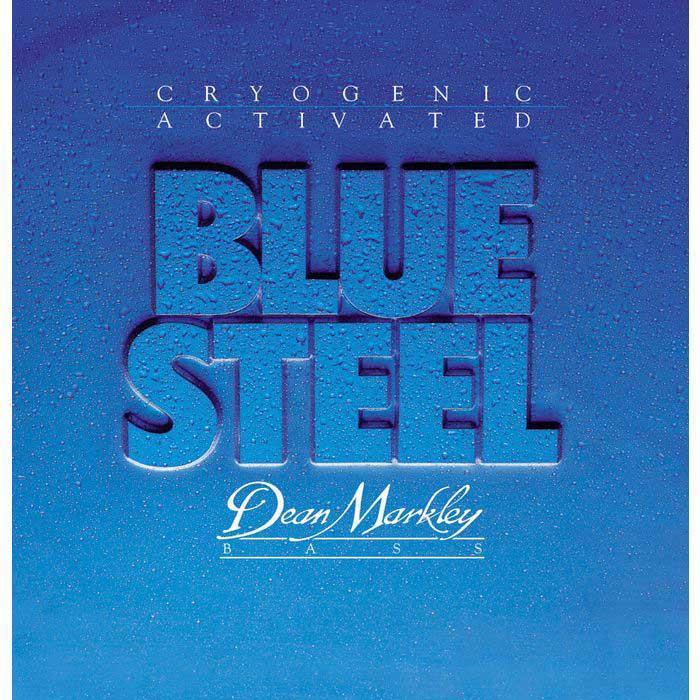 Custom Light Blue Steel Electric Bass Strings