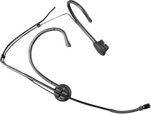 Black Omnidirectional Condenser Headset Microphone