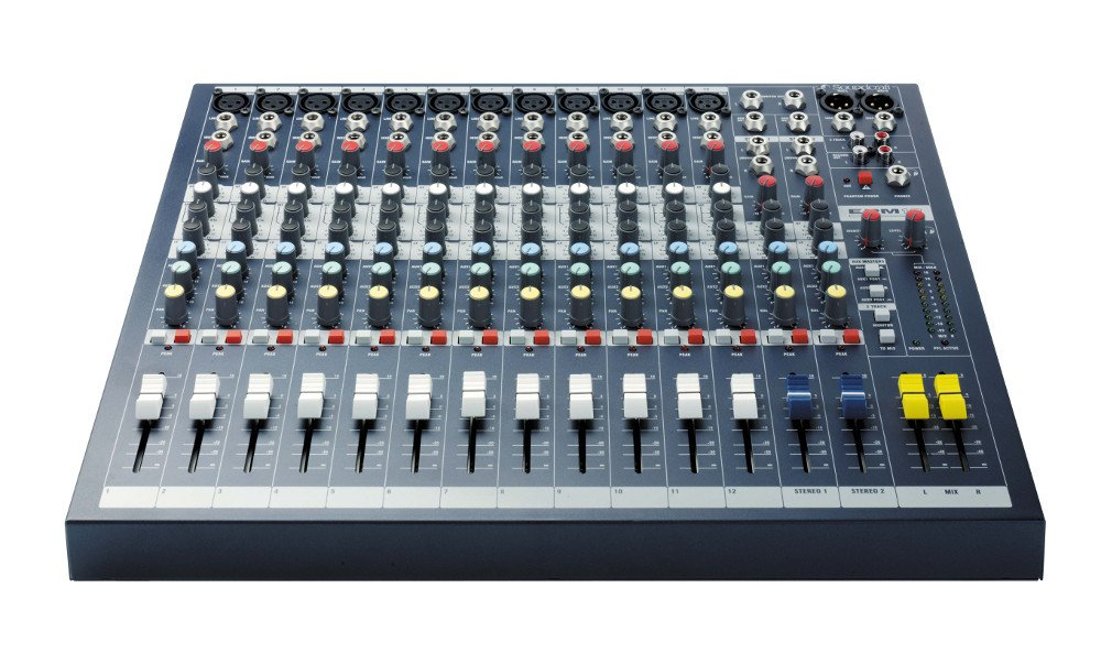12-Channel Mixer with Rack Ears