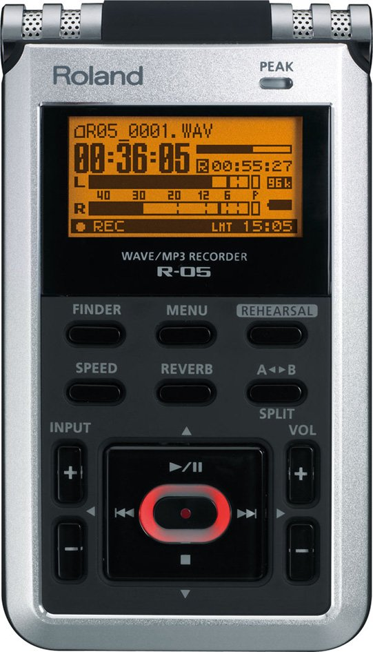 Handheld 2-Channel WAV/MP3 Recorder