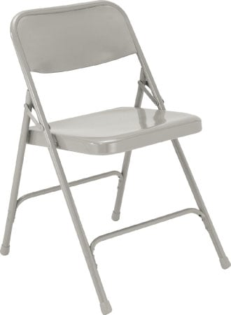 National Public Seating 202 Steel Folding Chair (Grey) 202-NPS