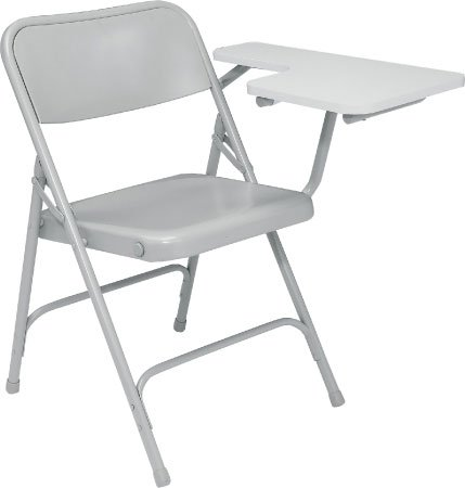 National Public Seating 5202L  Folding Chair, with Left Tab Arm, Gray/Gray 5202L