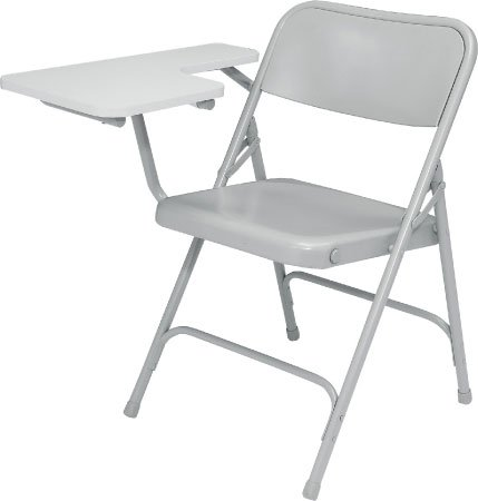Folding Chair with Right Tab Arm, Gry/Gry