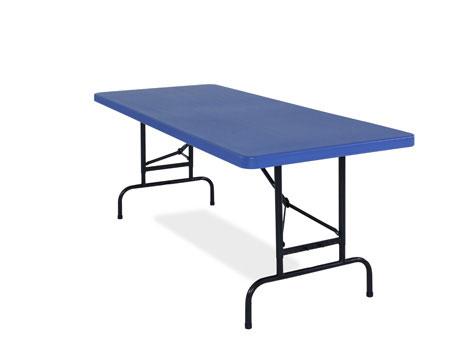 "Table, Adjustable, 30""x72""x1.75"", Blue"