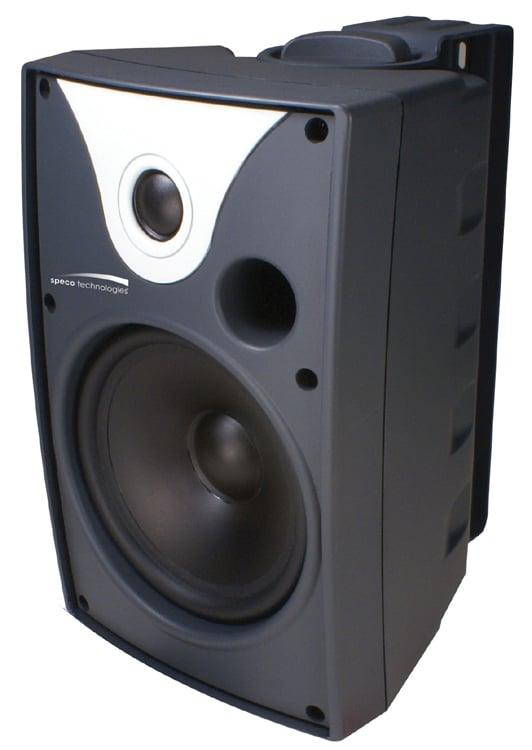 "Speco Technologies SP6AWX 6.5"" AWX Series Indoor/Outdoor Speakers, Black, Pair SP6AWX"