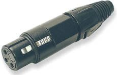Connector XLRF Inline, Black
