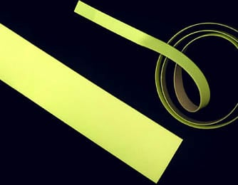 "10 Yard Roll of 1/2"" W Luminescent Yellow Glow Tape"