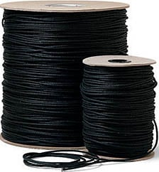 600 ft. Roll of Black Unwaxed Tie Line