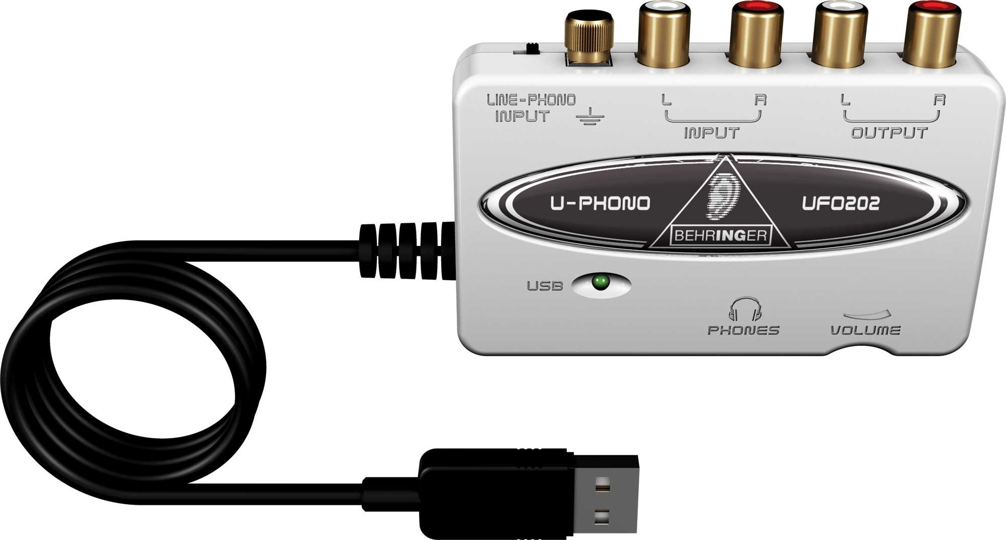 behringer ufo202 u phono usb audio interface with phono preamp full compass systems. Black Bedroom Furniture Sets. Home Design Ideas