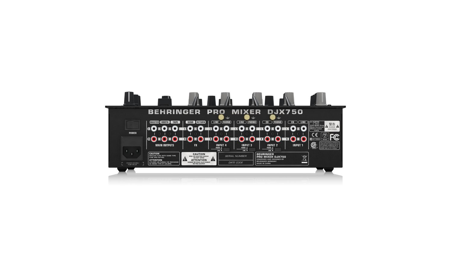 DJ Mixer, 5 Channel with BPM Counter & FX