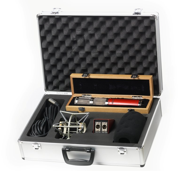 Stereo FET Microphone with Case & Mount