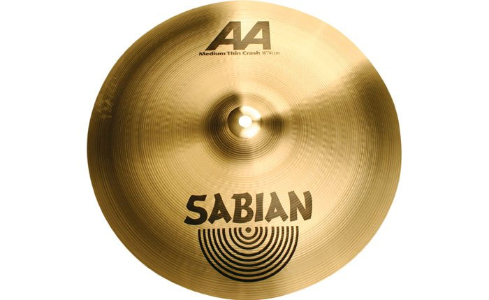 "16"" AA Medium Thin Crash Cymbal in Natural Finish"